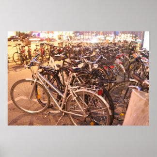 Poster Bicyclettes Copanhagen Danemark