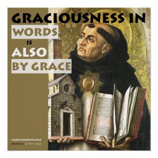 Poster Bienveillance en affiche de résistance d'Aquinas