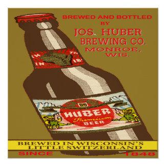 Poster Bière de Huber