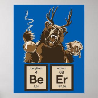 Poster Bière découverte par ours de chimie