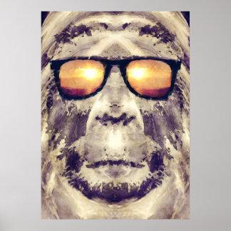 Poster Bigfoot aux nuances