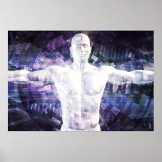 Poster Biotechnologie du futur résumé comme art