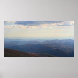 Poster Blue Ridge Mountains dans l'automne, la Caroline