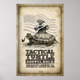 Poster Bock tactique de Doppel de tortue
