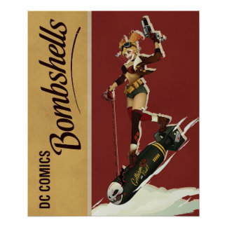 Poster Bombes de Harley Quinn de pin-up
