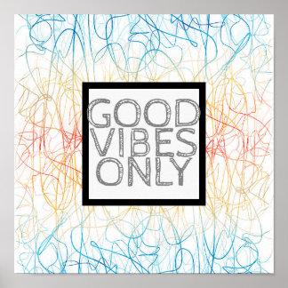 Poster bon vibraphone d'affiche abstraite colorée de