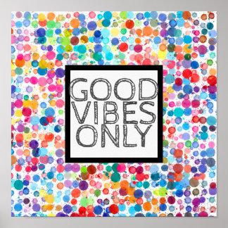 Poster bon vibraphone de points d'affiche colorée de