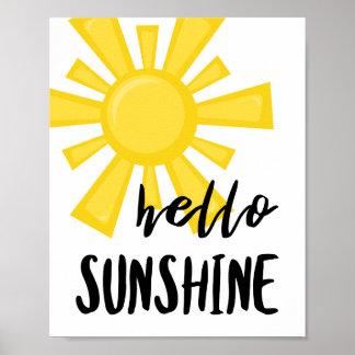 Poster Bonjour affiche de soleil