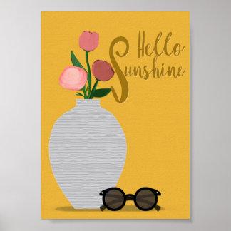 Poster Bonjour copie d'art de soleil