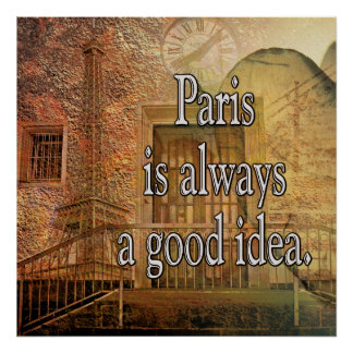 Poster Bonne idée de Paris -- Grande affiche