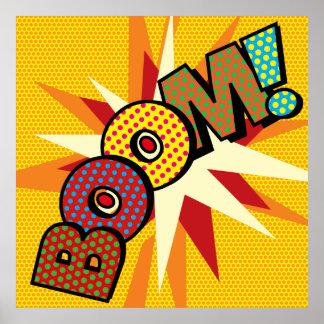 Poster BOOM d'art de bruit de bande dessinée !