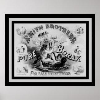 Poster Borax vintage 16 x 20 de Smith Bros d'affiche