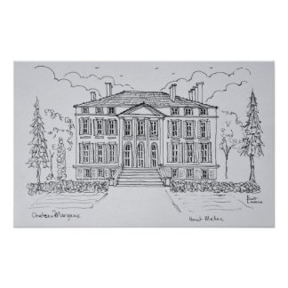 Poster Bordeaux de Margaux | de château, France
