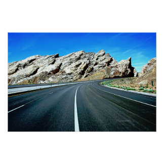 Poster Bosse de San Rafael de route de l'Utah