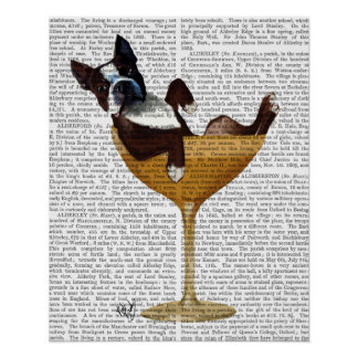 Poster Boston Terrier en verre de cocktail