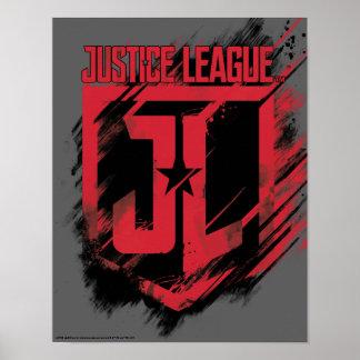 Poster Bouclier de la peinture balayé par | JL de ligue