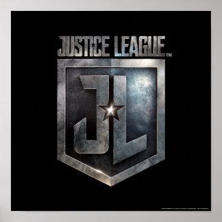 Poster Bouclier métallique de la ligue de justice | JL