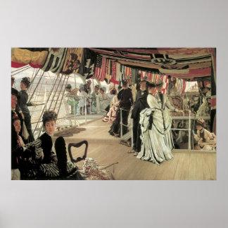 Poster Boule à bord par James Tissot, art victorien