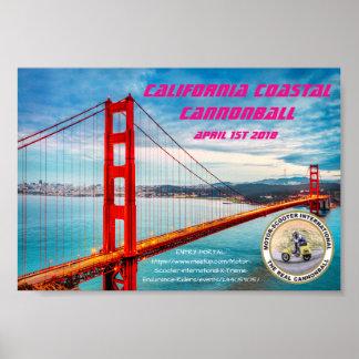 Poster Boulet de canon côtier de MSILSF la Californie