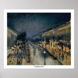 Poster Boulevarde Montmartre au ~ Camille Pissarro de