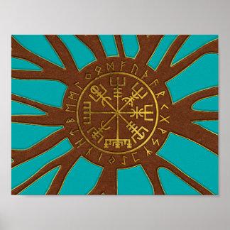 Poster Boussole de navigation de Vegvisir - de Viking