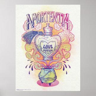 Poster Bouteille de philtre d'amour du charme  