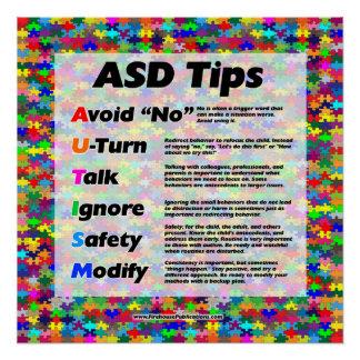 Poster Bouts de professeur d'autisme