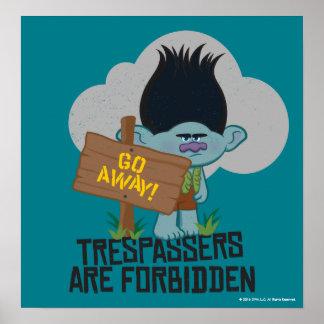 Poster Branche des trolls | - des transgresseurs sont
