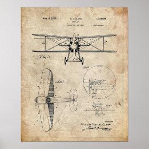 Poster Brevet d'avion