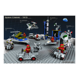 Poster Brick toys of '79 re-created in 3D