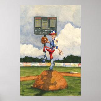 Poster Broc de base-ball sur le monticule par geai