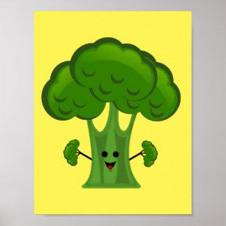 Poster Brocoli drôle