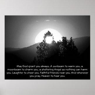 Poster Brûlé par une bénédiction du rayon de lune w/Irish