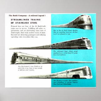 Poster Budd Company - une légende de chemin de fer