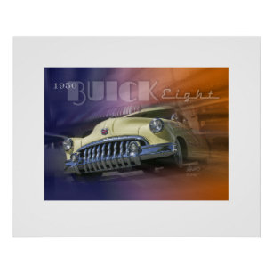 Poster Buick 1950 huit