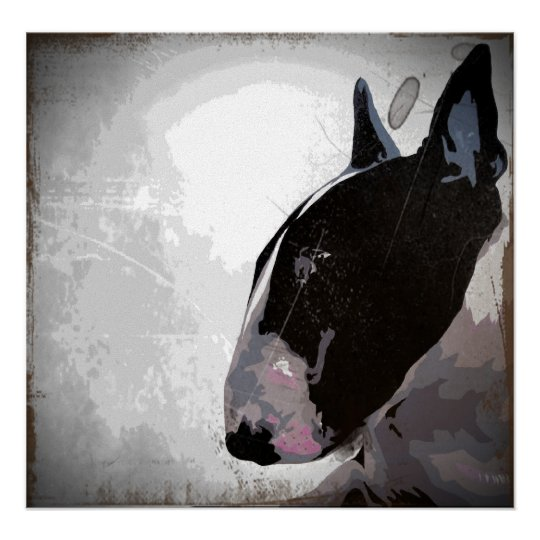 poster bull terrier anglais art contemporain urbain de c. Black Bedroom Furniture Sets. Home Design Ideas