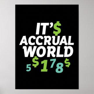 Poster Bureau drôle de comptable de finances c'est monde