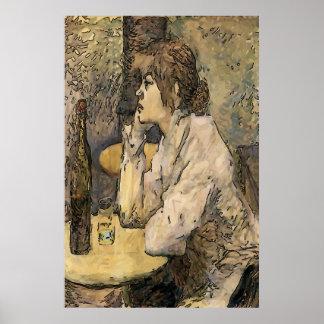 Poster Buveur d'absinthe, quartier français
