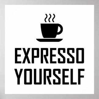 Poster Buveur de café de café express de l'express