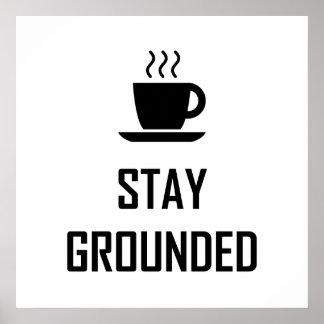 Poster Buveur de café fondé par séjour