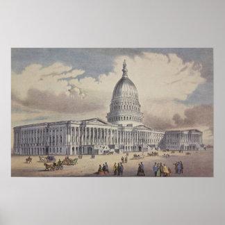 Poster C.C de Washinton de capitol des Etats-Unis