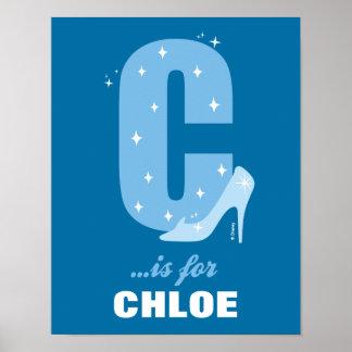 Poster C est pour Cendrillon que | ajoutent votre nom 2