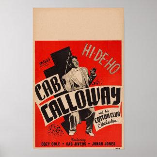 Poster Cab Calloway et son affiche d'orchestre de club de