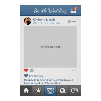 Poster Cabine sociale de photo de mariage de cadre