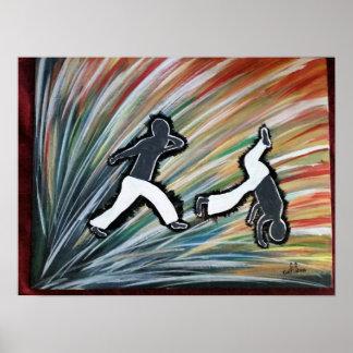 Poster cadeau d'amour de ginga de danse de mixed martial