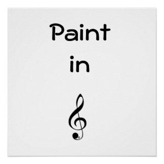 Poster Cadeau de peinture pour un art de mur de musicien
