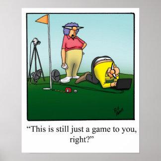 Poster Cadeau drôle d'affiche d'humour de golf