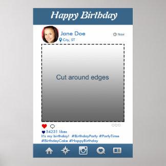 Poster Cadre d'appui vertical de partie d'Instagram