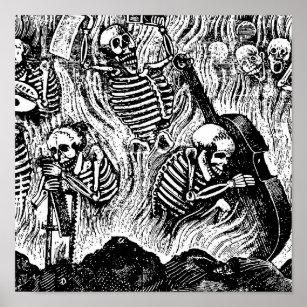 Poster Calavera des années 1900 Mexique d'artistes et d'a