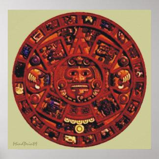Poster Calendrier aztèque